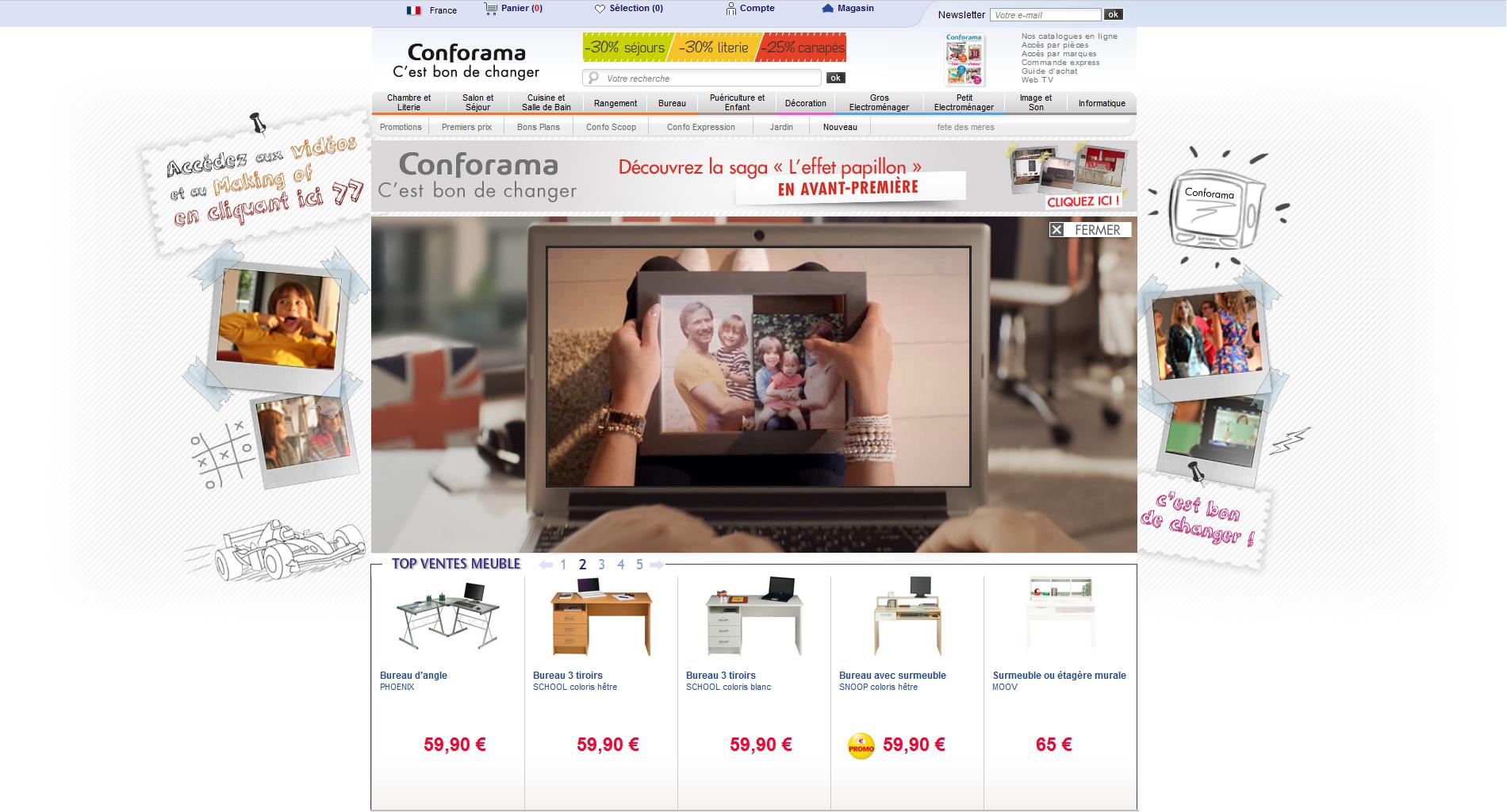 Conforama thomas salerio graphiste freelance sur rouen web